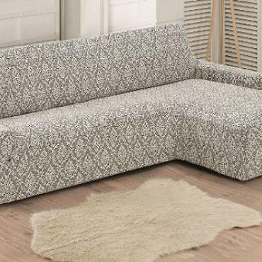 Чехол на диван угловой Правый Milano арт.2912 натурал