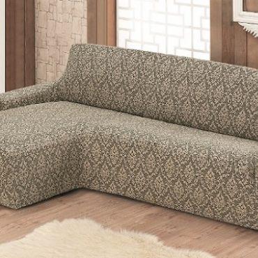 Чехол на диван угловой Левый  Milano арт.2913 бежевый