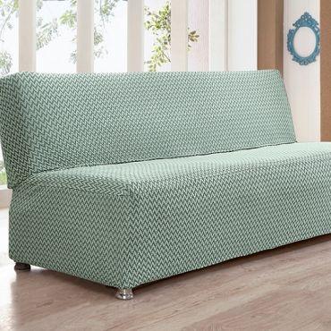 Чехол на диван без подлокотников 2м Karna PALERMO арт.2935 Ментол