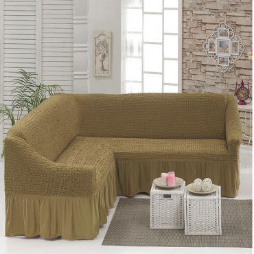 Чехол на угловой диван Кофе с молоком DO&CO арт8209м
