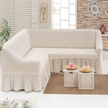 Чехол на угловой диван Кремовый DO&CO арт8209м
