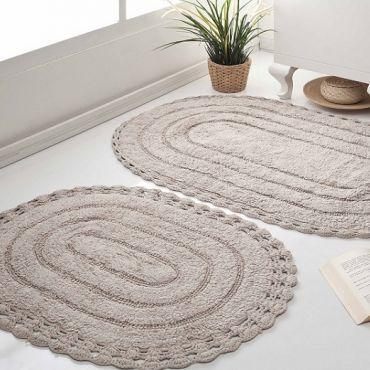 Набор ковриков кружевной YANA 60x100 +50x70 Капучино (арт 5026)