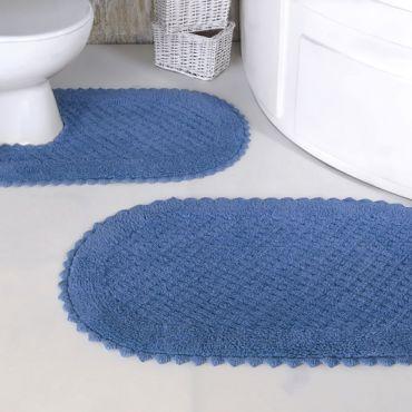 Набор ковриков PRIOR 2 шт голубой (арт 5100)