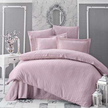 """Постельное белье бамбук """"KARNA"""" PERLA Розовый арт.814"""