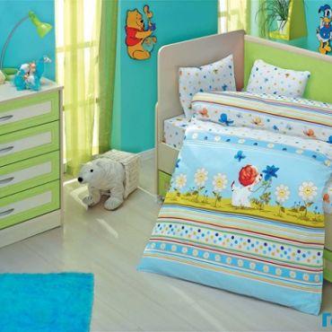 """Постельное белье """"Altinbasak"""" для новорожденных GULUCUK Голубой"""
