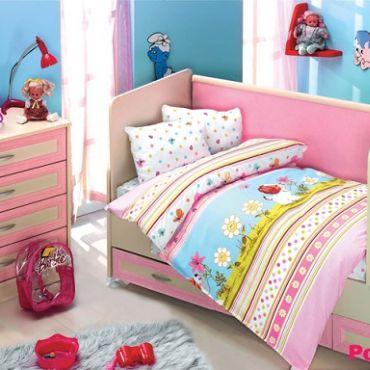 """Постельное белье """"Altinbasak"""" для новорожденных GULUCUK Розовый"""