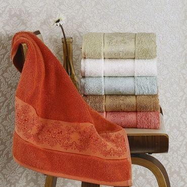 Набор полотенец бамбук 1шт 70х140 PANDORA арт2158 в асс