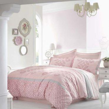 Постельное белье Сатин евро Altinbasak ALONA 256/22 розовый