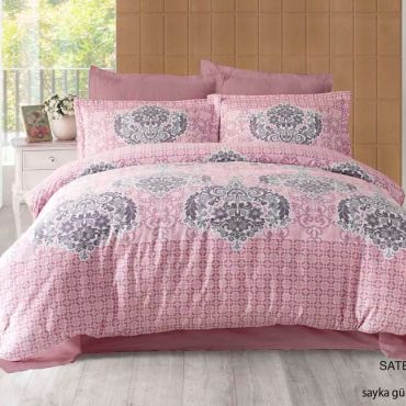 Постельное белье Сатин евро Altinbasak SAYKA 256/21 розовый