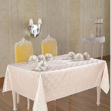 Скатерть с салфетками и кольцами Anemon DO&CO арт.7642 капучино