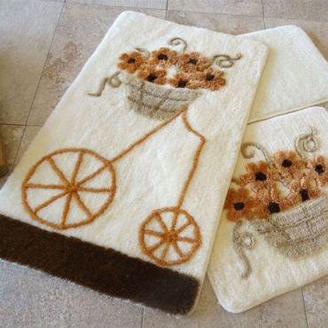 Набор ковриков DO&CO Alacati коричневый арт.9390