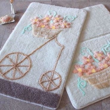 Набор ковриков DO&CO Alacati персик арт.9390