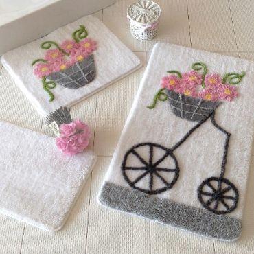 Набор ковриков DO&CO Alacati розовый арт.9390
