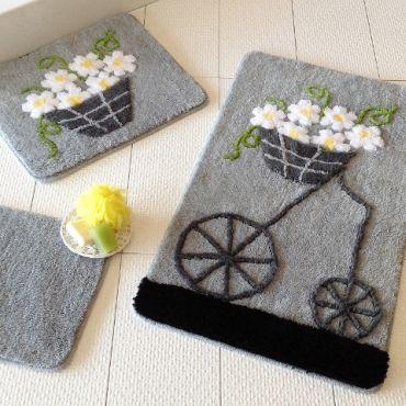 Набор ковриков DO&CO Alacati серый арт.9390