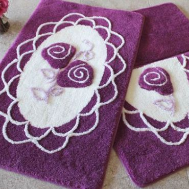 Набор ковриков DO&CO Dantel фиолетовый арт.9391
