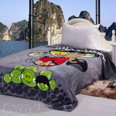 Плед Angry Birds серый 3024-01