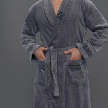 Халат мужской махровый арт9950 Серый