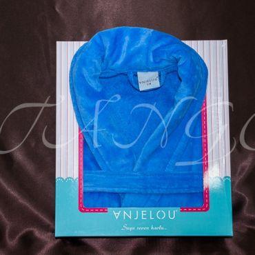 Халат махровый синий 12109-07 Синий