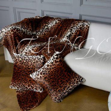 Покрывало меховое 240х260 Леопард DCT068-22