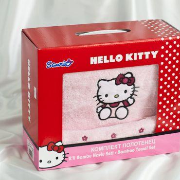 Махровые полотенца Хэлло Китти розовые 8291-03