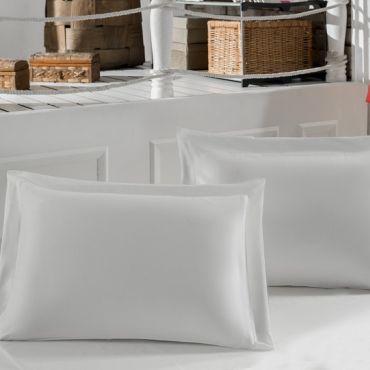 Наволочки 2шт сатин 50х70 Турция белые (220/11)