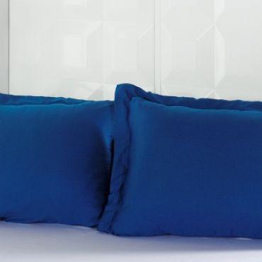 Наволочки 2шт сатин 50х70 Турция синие (220/11)