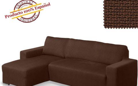Чехол на угловой диван АЛЯСКА коричневый левый