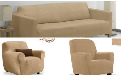 Комплект чехлов (2м диван и 1 кресло) ТЕЙДЕ бежевый