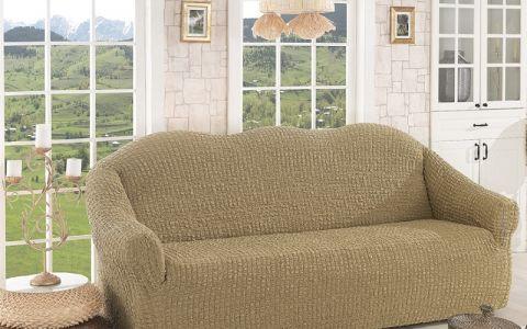 Чехол для дивана трехместный без юбки арт2652 беж