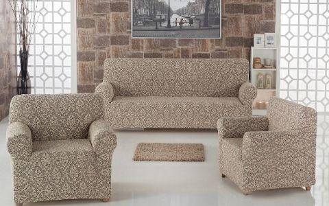Набор чехлов диван и кресла Milano арт.2683 беж