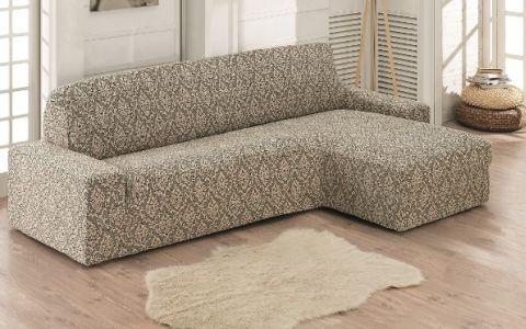 Чехол на диван угловой Правый Milano арт.2912 бежевый