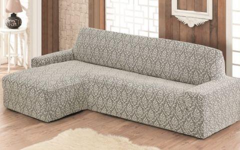 Чехол на диван угловой Левый  Milano арт.2913 натуральный