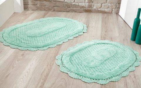 Набор ковриков LOKAL 60X100 + 50X70 ментол (арт 5097)
