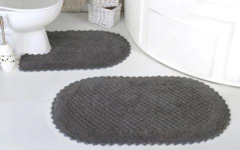 Набор ковриков PRIOR 2 шт Серый (арт 5100)