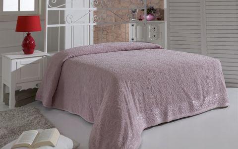 """Простынь махровая """"KARNA"""" ESRA 200x220 Грязно-розовый"""