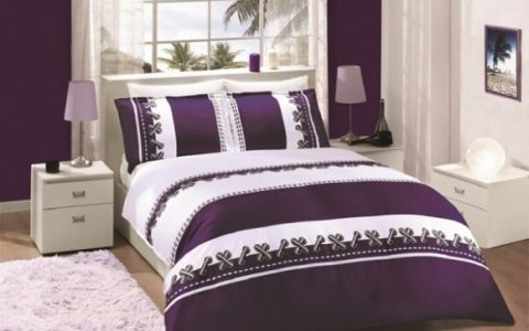 """Постельное белье """"ALTINBASAK"""" DUPONT Сатин (200x220) Фиолетовый"""