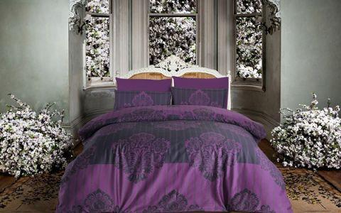 """Постельное белье """"ALTINBASAK"""" BAROK Сатин (200x220) Фиолетовый"""