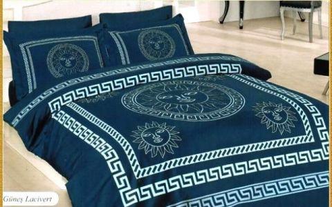 Постельное белье бамбук 1,5 Gunes Синее №145