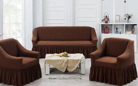 Набор чехлов на диван и кресла Хлопок Juanna Koza арт9524 коричневый