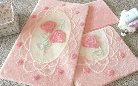 Набор ковриков DO&CO Dantel розовый арт.9391