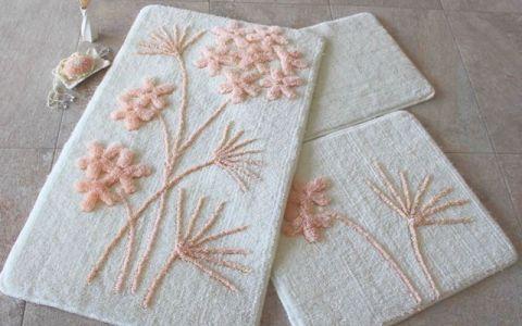 Набор ковриков DO&CO Orkide персиковый арт.9394