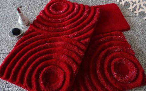 Набор ковриков DO&CO Wave красный арт.9401