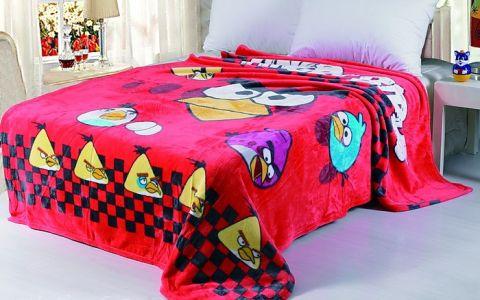 Плед  детский красный Angry Birds 3024-03