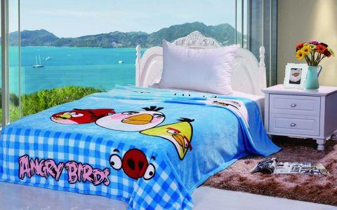 Плед Angry Birds голубой 3024-02