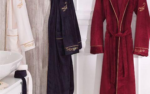 Бамбуковый белый халат мужской hlt9350