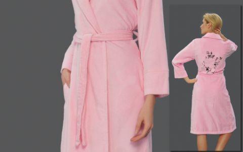 Халат махровый женский hlt9660 розовый