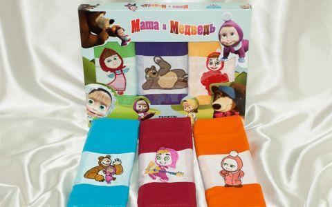 Полотенца вафельные Маша и Медведь plt90-3