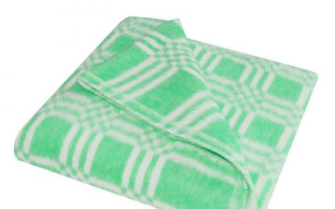 Одеяло байковое 100х140 зеленое (57-3ЕТ)
