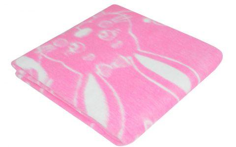 Одеяло байковое 100х140 розовое (57-5 ЕТОЖ)