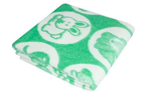 Одеяло байковое 100х140 зеленое (57-5 ЕТОЖ)